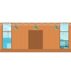 Warehouses Hangar Buildings in Flat Design vector image