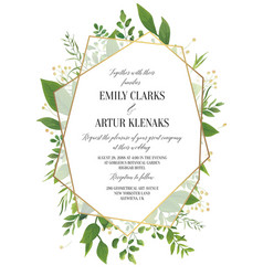 wedding floral greenery invitation invite card vector image