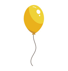 yellow balloon isolated vector image
