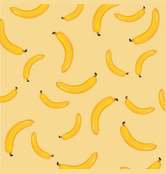 yellow bananas background ripe bananas pattern vector image