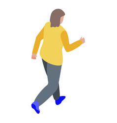Zombie walking icon isometric style vector