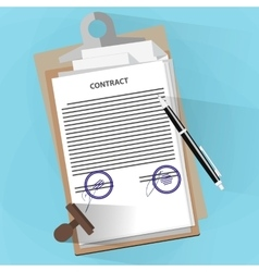Agreement documents concept vector image