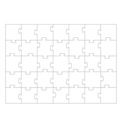 Jigsaw Puzzle template 35 pieces vector image
