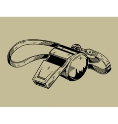 Monochrome of whistle Sports vector image vector image