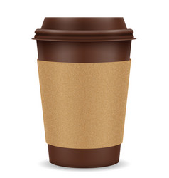 paper cup for coffee stock vector image