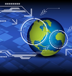 technology with global vector image vector image