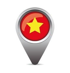 Vietnam flag pointer vector image