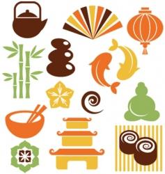 zen icons vector image vector image