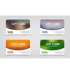 Discount card with a blurred background vector