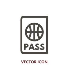 doodle passport icon vector image