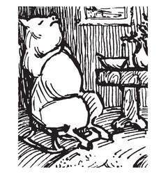 five little pigs vintage vector image vector image