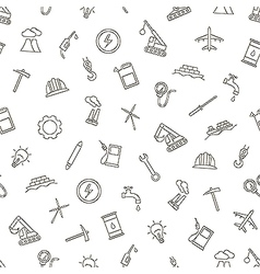 Industy pattern black icons vector image