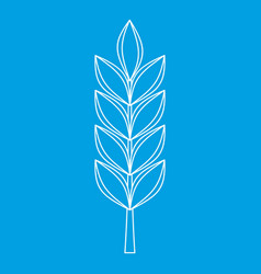 Wheat spike icon outline style vector