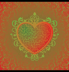 Abstract background with heart vector image