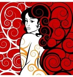 Beauty in Swirls vector image
