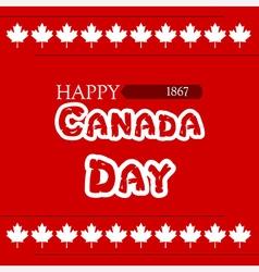 canada day clover vector image