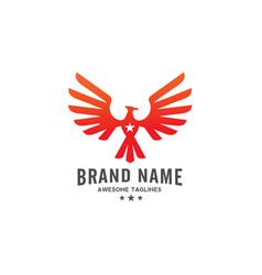 Eagle with star logo vector