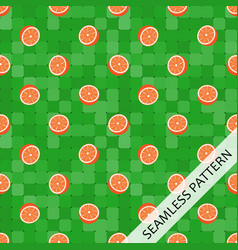 seamless pattern with juicy oranges vector image vector image