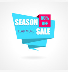 Season Sale Weekend special offer poster banner vector image vector image
