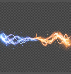 transparent light effect vector image vector image