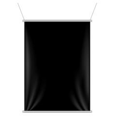 black banner vector image vector image