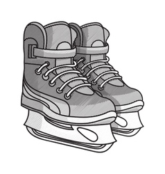 Etching ice skates vector image