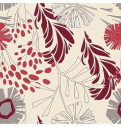 Seamless Floral Pattern With Flowers vector image vector image