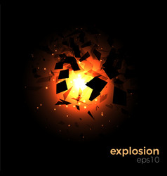 space geometric explosion vector image