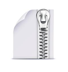 zip file icon vector image vector image