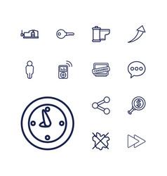 13 button icons vector