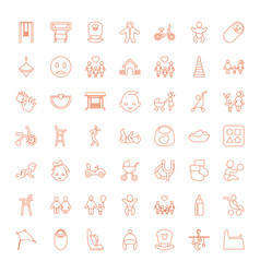 49 kid icons vector image