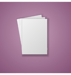 A4 Paper Sheet isolated on white background vector image