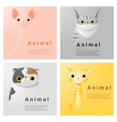 Animal portrait collection with cats 2 vector