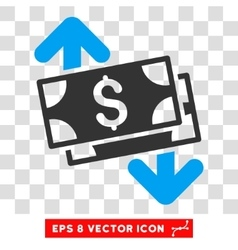 Banknotes Spending Eps Icon vector