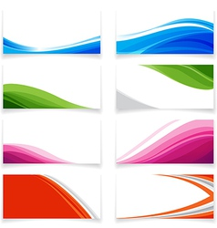 Banner Curve style 0001 vector image
