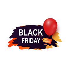 black friday sale tag advertising badge balloon vector image