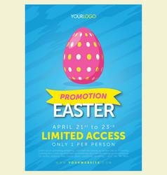 bold easter egg flyer template vector image