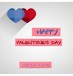 Bright 2015 Valentine s day card With long shadow vector image