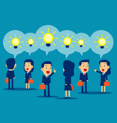 business people presenting ideas concept business vector image