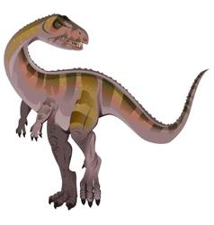 Carnivorous dinosaur allosaurus vector