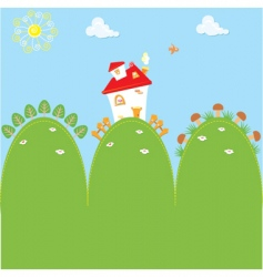 cartoon home vector image
