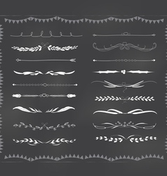 Chalkboard text divider hand drawn vintage vector