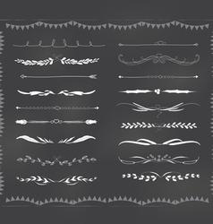 Chalkboard text divider hand drawn vintage vector image