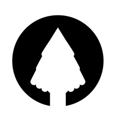 christmas tree card isolated icon vector image