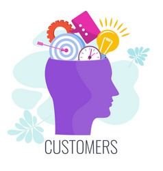 Client customer consumer infographics pictogram vector