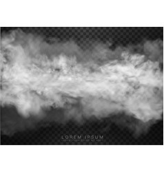 Clouds and smoke on transparent background vector