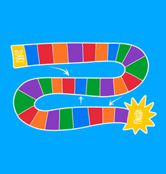 colorful board game template vector image