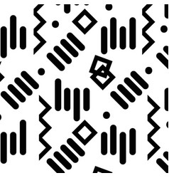 Contour graphic memphis style abtract figures vector
