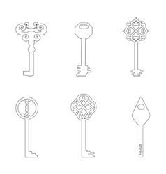 Contour keys vector