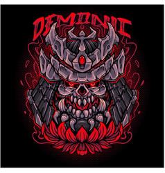 demonic head esport mascot logo design vector image